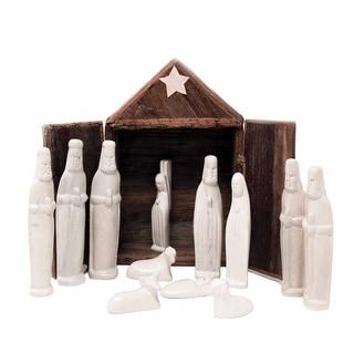 Link to Kenya Soapstone Nativity Set and Banana Fiber Barn, 13-piece Set Similar Items in Christmas Decorations