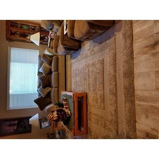 Safavieh Shadow Box Ultimate Beige Shag Rug (8' x 10')