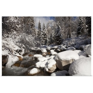 """USA, Colorado, Winter landscape"" Poster Print"