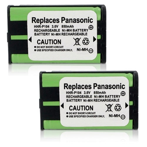 Replacement Panasonic P104A NiMH Cordless Phone Battery (2 Pack)