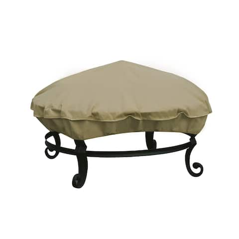"""Modern Leisure Basics Outdoor Round Patio Firepit Cover, 36"""" Dia x 4""""H"""