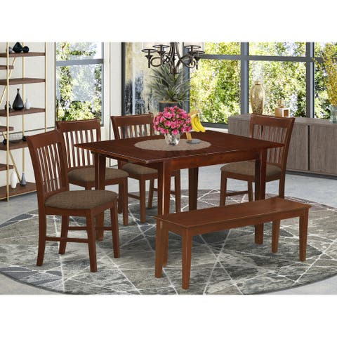 6-piece Dinette Table and 4 Dining Chairs and Dining Bench