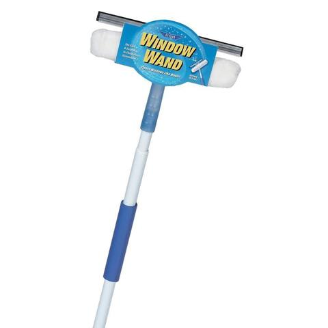 Ettore 15060 Window Wand Squeegee & Scrubber Combo with 5' Extension Pole