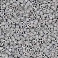 Miyuki Delica Seed Beads, 11/0 Size, 7.2 Gram Tube, 2204 Matte Labrador Silver