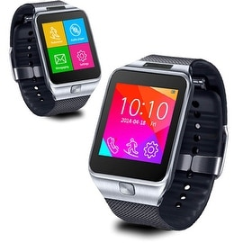Indigi® NEW 3G SWAP2 (SmartWatch and Phone) Bluetooth Sync + Built-In Camera + Speaker + FM Radio + Notifications - GSM Unlocked