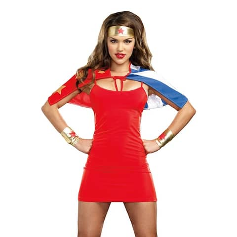 Dreamgirl She's My Hero Adult Costume Kit - One Size Fits Most
