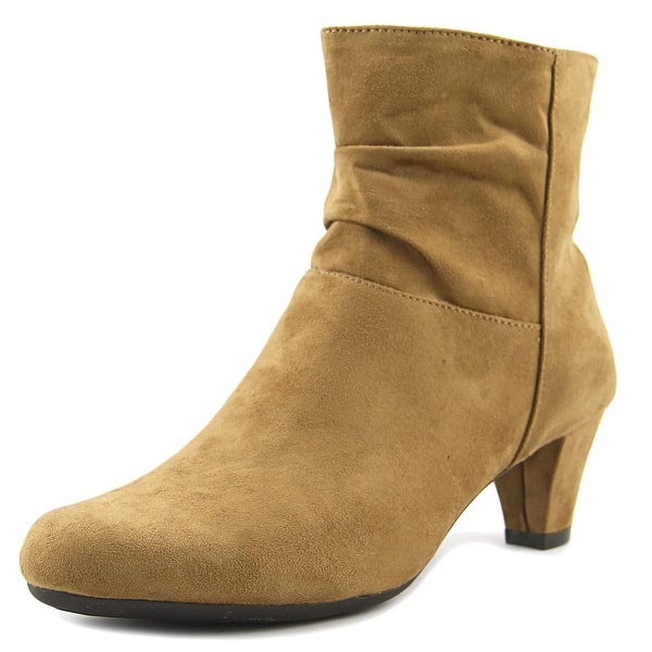 Aerosoles Shore Fit Women W Round Toe Synthetic Tan Ankle Boot