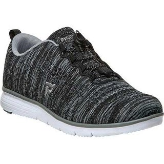 Propet Women's TravelFit Sneaker Black/Grey Knit