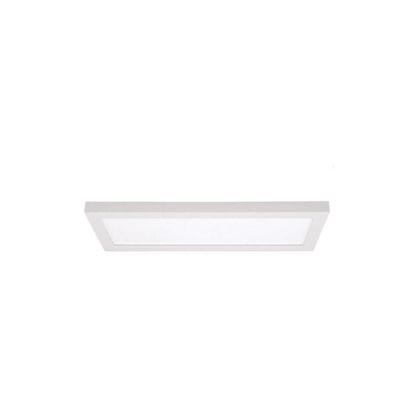 """Nuvo Lighting S9368 Blink 18"""" Wide 1-Light LED Flush Mount Ceiling Fixture - White"""