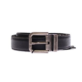 Dolce & Gabbana Dolce & Gabbana Black Leather Logo Belt - 95-cm-38-inches