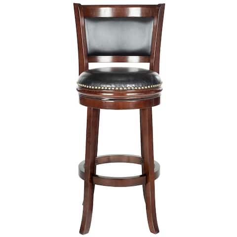 "Safavieh Brockway Cappuccino/ Black 29-inch Bar Stool - 19"" x 18"" x 44"""