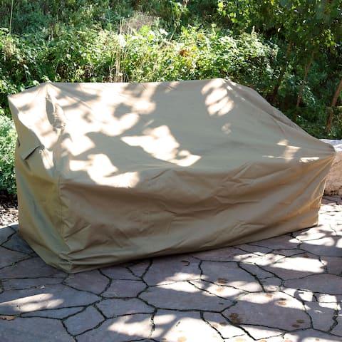 Sunnydaze Deep Seating Patio Sofa Protective Cover - Includes Cover Only - Khaki - Patio Sofa Cover