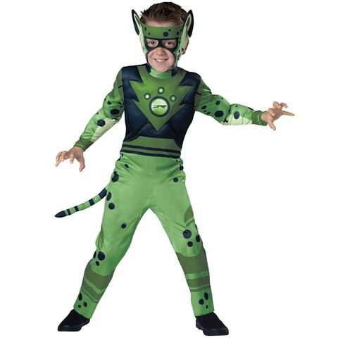 Boys Wild Kratts Green Cheetah Costume