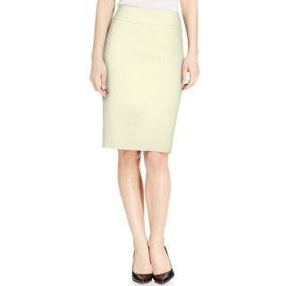 Kasper NEW White Ivory Women's Size 10P Petite Straight Pencil Skirt