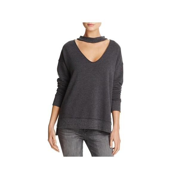 806f7160818 Shop Joe's Jeans Womens Sofie Sweatshirt Choker V-Neck - Free ...
