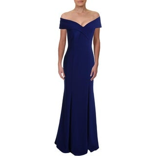 Xscape Womens Formal Dress Off-The-Shoulder Sheath - Electric Blue