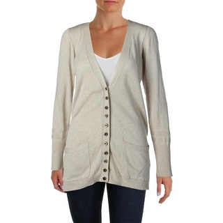 Marc by Marc Jacobs Womens Silk Blend Ribbed Trim Cardigan Sweater - M