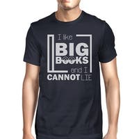 I Like Big Books Mens Navy Funny Book Lover Gift T-Shirt For Him