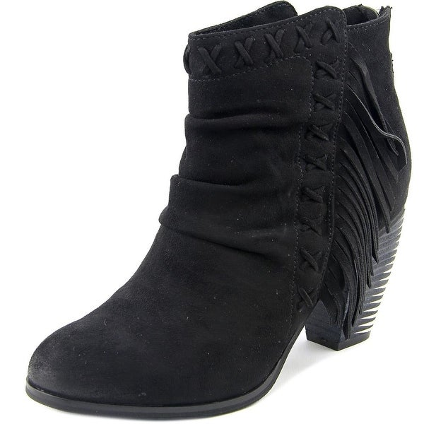 Not Rated Angie Women Round Toe Canvas Ankle Boot