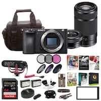 Sony Alpha a6500 Digital Camera (Body) w/ Two Lens Bundle & Rode Mic