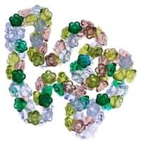 Czech Glass Flower Drops Lavender Garden Color Mix 7mm (100 Beads)