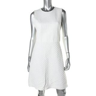 Theory Womens Raneid K Knit Textured Wear to Work Dress