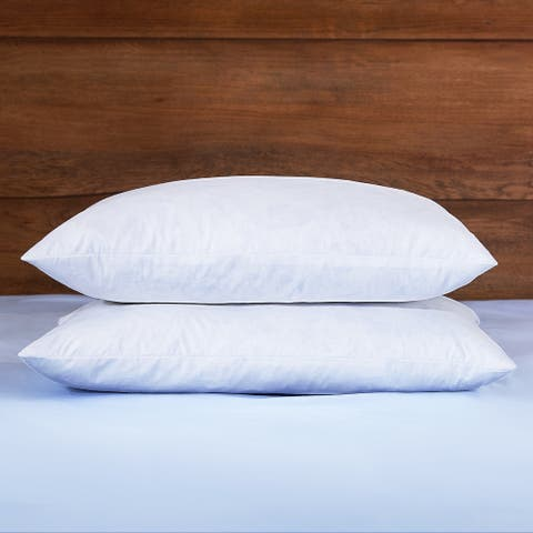 Feather & Down Filled Suare Throw Pillow Inserts - 2 Pack