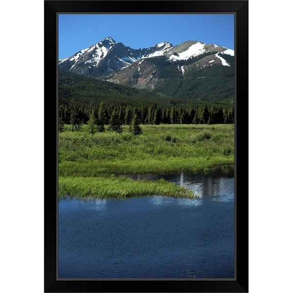 """Rocky Mountain National Park, Colorado"" Black Framed Print"