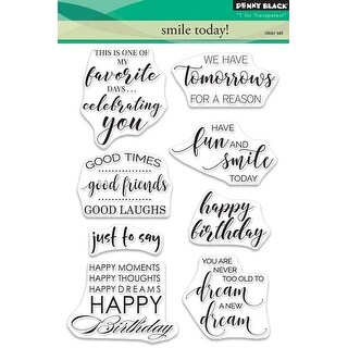 Smile Today - Penny Black Clear Stamps