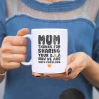 Mum Thanks For Sharing Your DNA Ceramic Mug Cup Cute Mothers Day Gifts For Mom