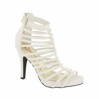 Red Circle Footwear 'Amauri' High Heel Gladiator Sandal in White