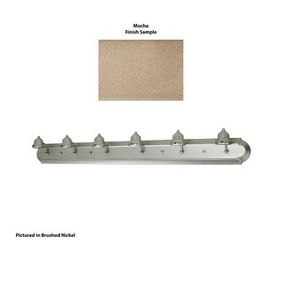 "Craftmade 11748-6 Racetrack 48"" Wide 6 Light Bathroom Vanity Light (2 options available)"