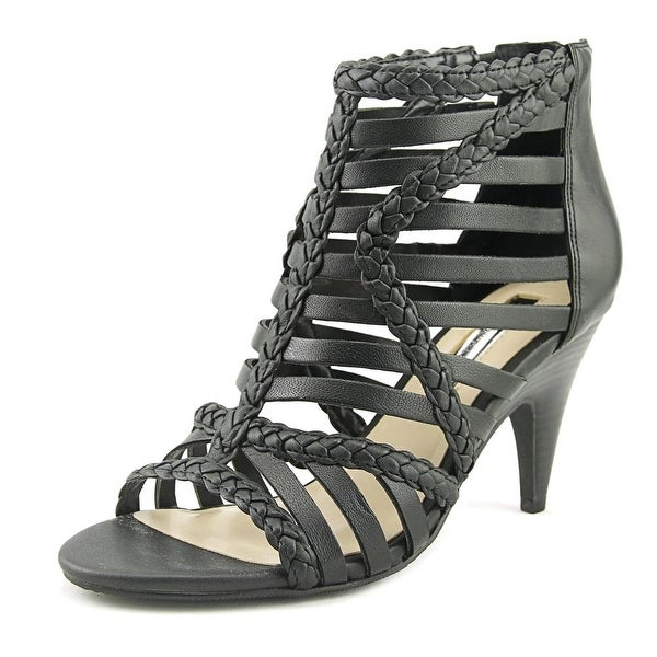 INC International Concepts Geenia Women Open Toe Suede Black Sandals