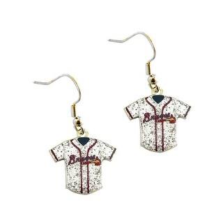 MLB Atlanta Braves  Glitter Jersey Dangle Earring Set Charm Gift