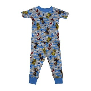 Nickelodeon Blue Paw Patrol Short Sleeve 2 Pc Pajamas Set Little Boys