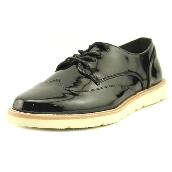 Restricted Elsie Women Round Toe Synthetic Black Oxford
