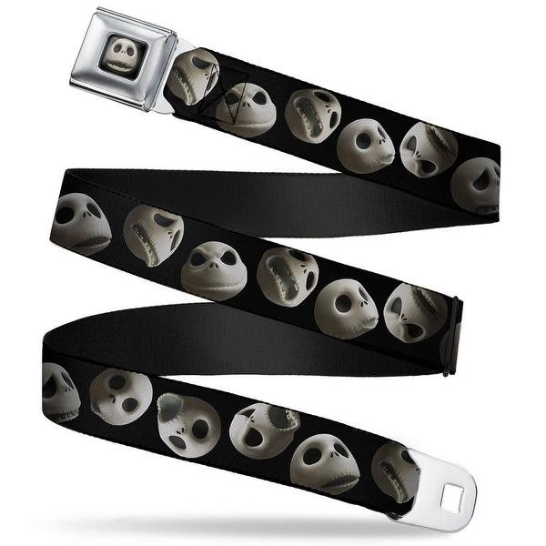 Jack Expression12 Full Color Jack 10 Expressions Staggered Black Webbing Seatbelt Belt