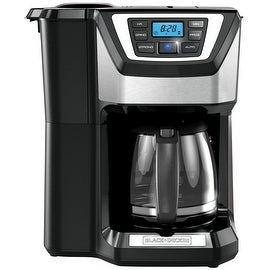 Black & Decker CM5000B 12-Cup Mill & Brew Coffeemaker, Black