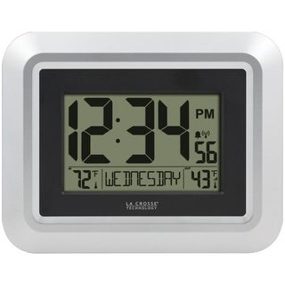 Link to La Crosse Technology 513-1918S-INT Atomic Digital Wall Clock with Indoor/Outdoor Temperature Similar Items in Decorative Accessories