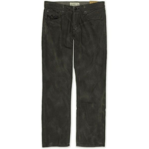Ecko Unltd. Mens Molson Straight Fit Relaxed Jeans, black, 28W x 32L - 28W x 32L. Opens flyout.
