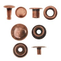 Create Recklessly, Eyelet / Rivet / Snap Hardware Kit, 58 Total Pieces, Antiqued Copper Plated
