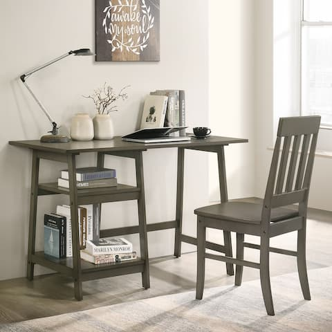 Furniture of America Oller Transitional Writing Desk With Chair