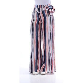 BAR III $60 Womens New 1134 Blue Striped Belted Casual Pants 2XS B+B