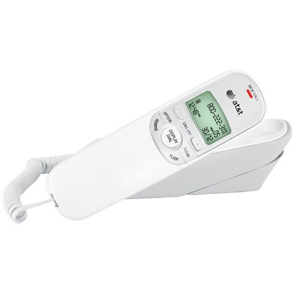 Att Tr1909W Corded Trimline Phone With Caller Id (White)