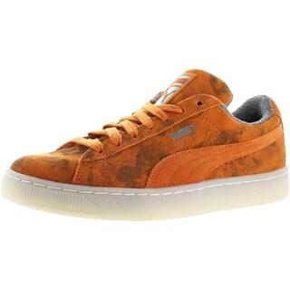 Puma Mens Suede Classic Fashion Sneakers Round Toe Casual (Option: burnt orange 361373 - 7 medium (d))