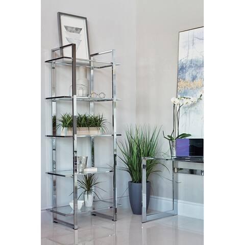 Silver Orchid Borgstrom 5-tier Bookcase