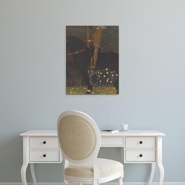 Easy Art Prints Gustav Klimt's 'The Golden Knight' Premium Canvas Art