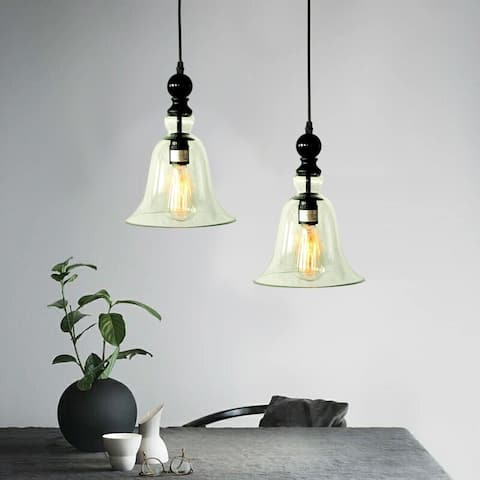 Marlowe 1-light Adjustable Cord 8-inch Clear Glass Edison Pendant with Bulb