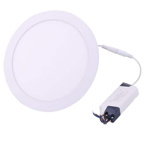 White 20W Round Hotel Dimmable LED Recessed Ceiling Panel Down Light AC85-265V