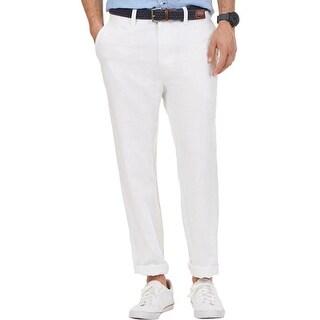 Nautica Mens Casual Pants Linen Blend Twill